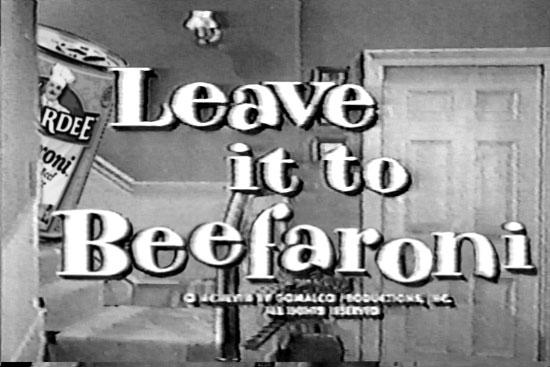 Leave it Beefaroni