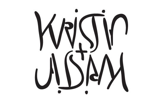 kristin + adam ambigram