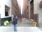 from the mouth of the alley. It's just far back that not everybody sees it.