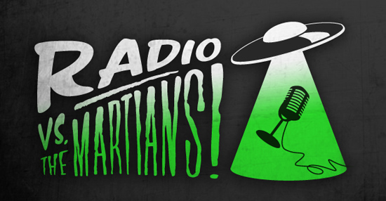 Radio Vs. The Martians Logo Lock-up